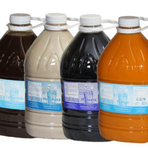 Jarabe para preparar agua sabor a frutas